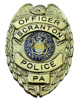 SCRANTON POLICE OFFICER BADGE PA