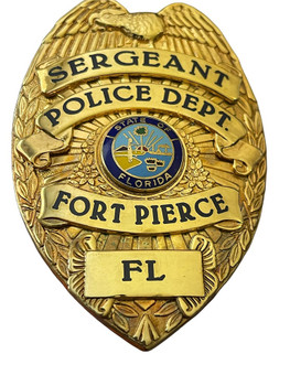 FORT PIERCE POLICE SERGEANT BADGE FL