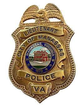MANASSAS POLICE LIEUTENANT BADGE VA