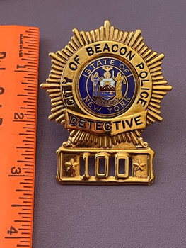 BEACON POLICE DETECTIVE BADGE NY