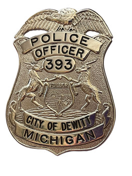DEWITT POLICE OFFICER BADGE MI