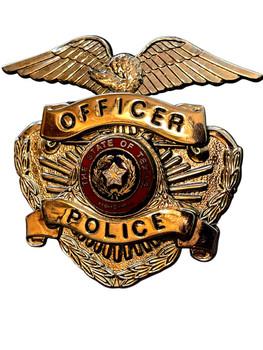 TEXAS POLICE OFFICER CAP BADGE