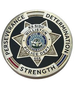 WILLISTON POLICE ND COIN K-9 RARE