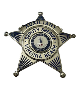 DEPUTY SHERIFF VIRGINIA BEACH AUX. STAR BADGE VA