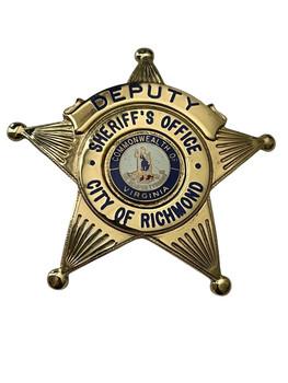 DEPUTY SHERIFF CITY OF RICHMOND  STAR BADGE VA