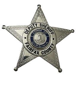 DEPUTY SHERIFF FAIRFAX COUNTY STAR BADGE VA