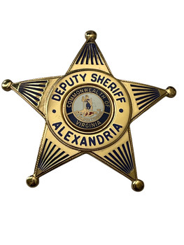 DEPUTY SHERIFF ALEXANDRIA STAR BADGE VA