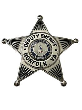 DEPUTY SHERIFF NORFOLK  STAR BADGE VA