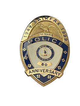 FAIRFAX  POLICE BADGE VA 50 YEAR ANNIVERSARY