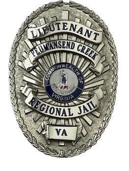 PEUMANSEND CREEK REGIONAL JAIL LIEUTENANT POLICE BADGE VA