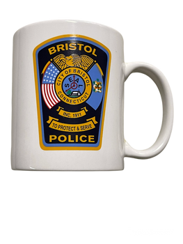 BRISTOL POLICE MUG CONNECTICUT PATCH