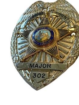 MECKLENBURG COUNTY POLICE MAJOR #302  BADGE