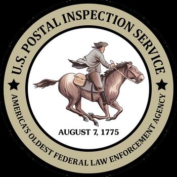 HORSEMAN US POSTAL INSPECTION SERVICE OLDEST PLAQUE