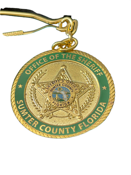 SUMTER CTY SHERIFF KEYTAG COIN IN BOX RARE