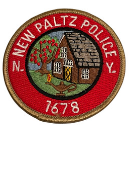 NEW PALTZ NY POLICE PATCH SMALL