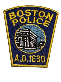 BOSTON MA POLICE PATCH SMALL