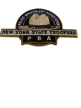 NY STATE TROOPERS PBA POLICE PATCH LASER CUT RARE