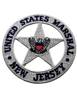U.S. MARSHALS SERVICE NEW JERSEY  PATCH SILVER