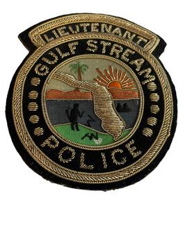 GULF STREAM POLICE EMBROIDERED  FL LIEUTENANT PATCH
