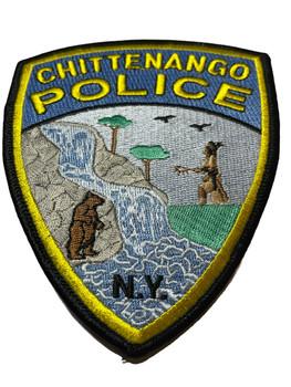 CHITTENANGO NY POLICE PATCH BLUE RARE