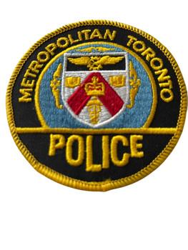 METROPOLITIAN TORONTO POLICE PATCH GOLD