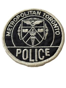 METROPOLITIAN TORONTO POLICE PATCH SILVER