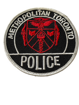 METROPOLITIAN TORONTO POLICE PATCH RED