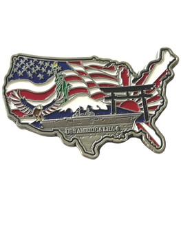 USS AMERICA SHIP COIN