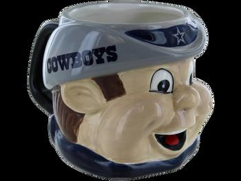 DALLAS COWBOYS  NFL Sculpted Mascot Mug 18oz NEW.