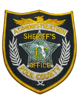 POLK COUNTY SHERIFF FL ADMINISTRATION PATCH