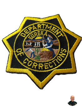CALIFORNIA DEPT. OF CORRECTIONS BADGE CA PATCH