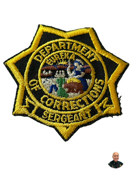 CALIFORNIA DEPT. OF CORRECTIONS SERGEANT BADGE CA PATCH
