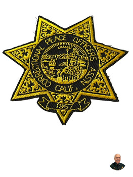 CALIFORNIA CORRECTIONAL PEACE OFFICERS ASSN. BADGE CA PATCH