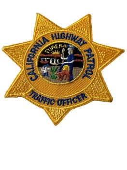 CALIFORNIA HIGHWAY PATROL TRAFFIC OFFICER BADGE PATCH