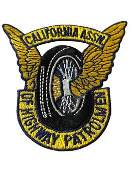 CALIFORNIA HIGHWAY PATROLMEN ASSN. WING WHEEL  BADGE PATCH