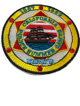 CALIFORNIA POLICE SUMMER GAMES 1987 1992 PATCH