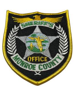 MONROE  COUNTY SHERIFFS OFFICE FL PATCH SILVER
