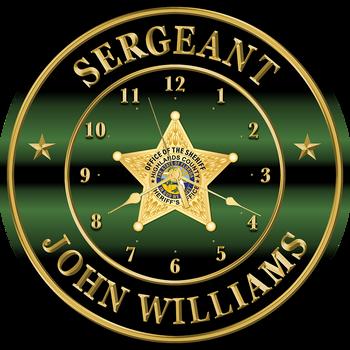 "Highlands Sheriff 15"" CLOCK"
