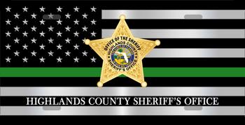 Highlands Sheriff LICENSE PLATE