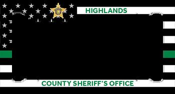 Highlands Sheriff LICENSE PLATE FRAME