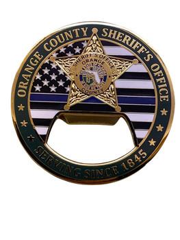 ORANGE COUNTY SHERIFF FL BOTTLE OPENER COIN