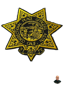 CORRECTIONAL PEACE OFFICERS ASSOC. CA STAR BADGE PATCH