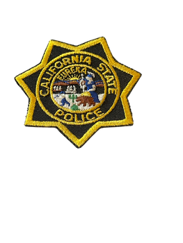 CA STATE POLICE STAR BADGE PATCH