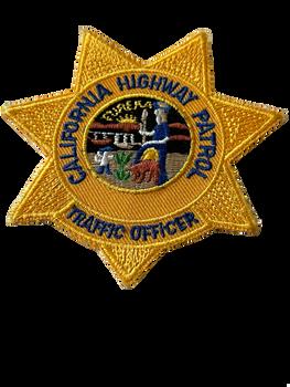 CA HIGHWAY PATROL TRAFFIC OFFICER STAR PATCH