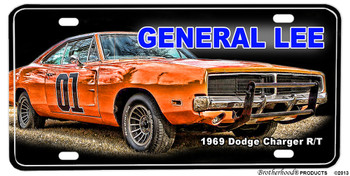 1969 Dodge Charger R/T General Lee Aluminum License plate