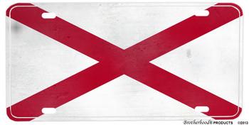 Alabama Distressed State Flag Aluminum License plate
