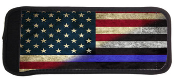 red white and blue thin blue line can cooler