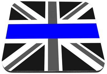 Thin Blue Line British Flag Union Jack Mouse Pad