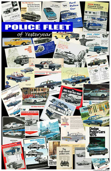 Police Fleet of Yester Year 11x17 Poster