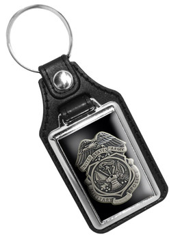 United States Army Military Police Faux Leather Key Ring